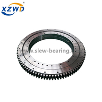 CCS certified External gear Three Row Roller Slewing Bearing for marine crane