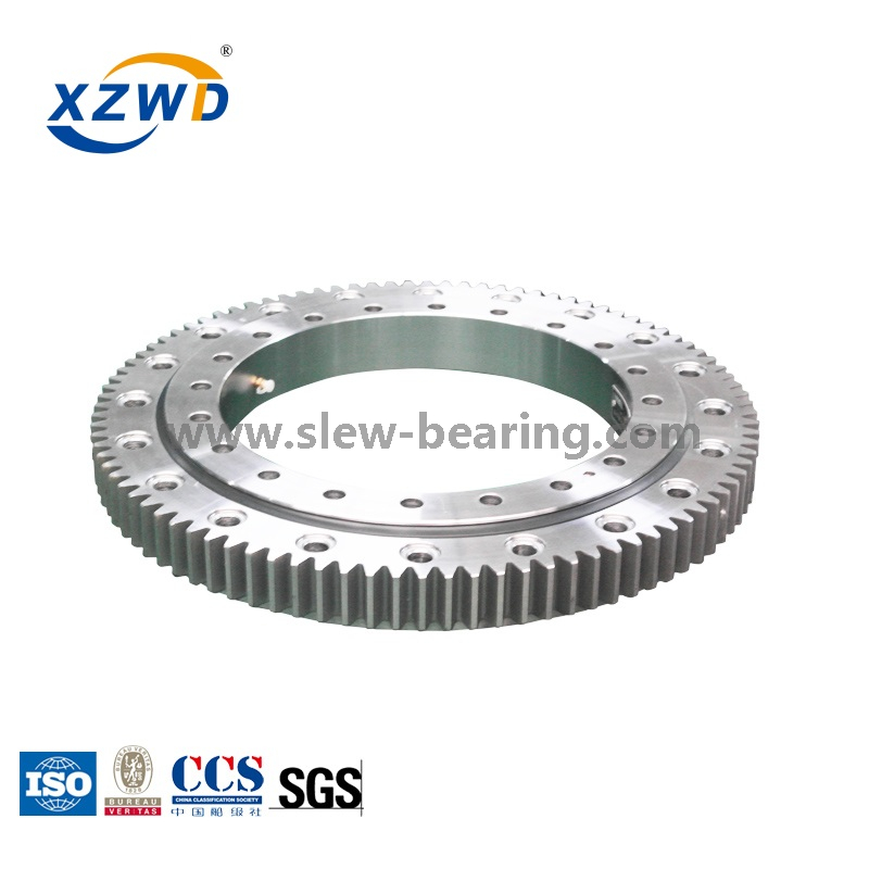 Hot Sales Small Diameter Four Point Contact Ball Slewing Ring Bearing with External Gear for Crane