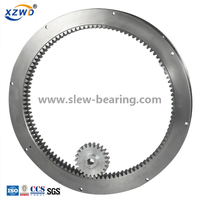 Rings For Excavator Single Row Four Point Contact Ball Slewing Ring Bearings