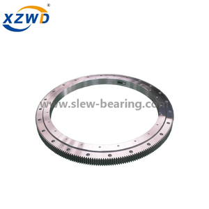 Hot Sale China Wanda Single Row Four Contact Ball Teeth Quenched Slewing Ring Bearing with External Gear for Small Machinery