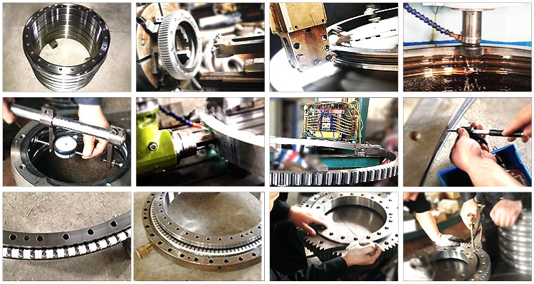Light Type Geared Ball Slewing Bearing For Plastic Bottle