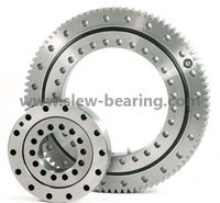 High quality single row four point ball slewing bearing raceways capacity for crawler crane